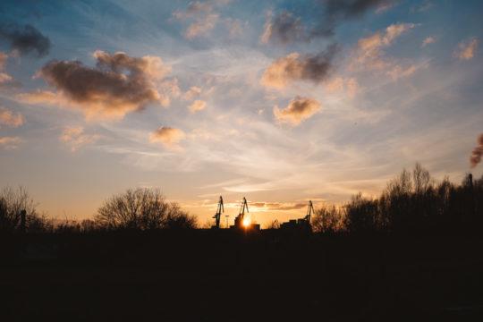 Wismar Sonnenuntergang mit dem Fujinon XF27